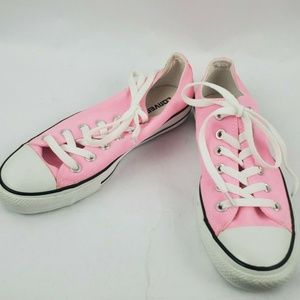 Converse Pink Low Top Canvas Fashion Sneakers